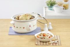 Electric casserole pot in the kitchen interior  Stock Photography