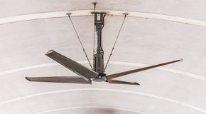 Electric ceiling fan on background. Royalty Free Stock Images