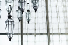 Electric ceiling lamp Stock Photos