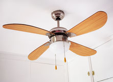 Electric ceiling lamp with propeller Stock Photography