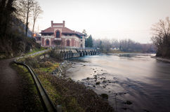 The electric central Esterle, Porto d'Adda, Italy Royalty Free Stock Image
