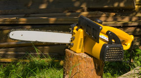 Electric chain saw Royalty Free Stock Images
