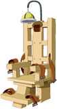 Electric chair. Illustration of the electric chair on a white background, vector Stock Photos