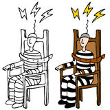Electric Chair. An image of a man in an electric chair Stock Photos