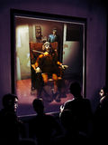 Electric chair. Several people observing behind a window a man executed on an electric chair Stock Photography