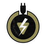 Electric charge symbol Stock Photo