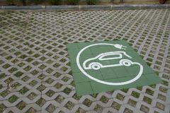 Electric charger symbol for cars royalty free stock image