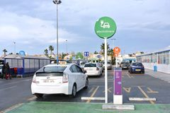 Electric charging for car Parking in Torrevieja Royalty Free Stock Photo