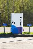 The electric charging station. Royalty Free Stock Images