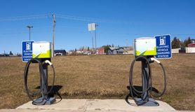 Electric charging stations at dawson creek Royalty Free Stock Photography
