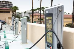 Electric Charging Stations royalty free stock photo
