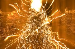 Electric Christmas. Abstract light blurs of a Christmas Tree Stock Photography