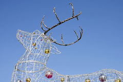 The electric Christmas reindeer Stock Images