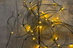 Electric Christmas tree lights royalty free stock image