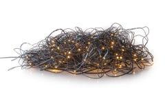 Electric Christmas tree lights Stock Photo