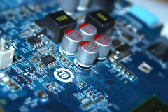 Electric circuit. With transistors and diode Stock Image