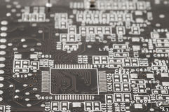 Electric circuit. Close up of eletric circuit, shallow focus Stock Image