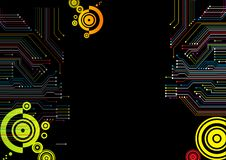 Electric circuit background Royalty Free Stock Photo