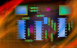 Electric circuit board Royalty Free Stock Photography