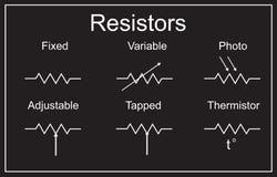Electric circuit elements. resistors Royalty Free Stock Image