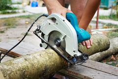 Electric circular saw Stock Images