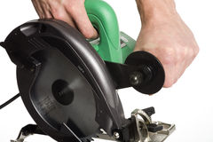 Electric circular saw Stock Photography