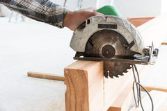 Electric circular saw Royalty Free Stock Photography