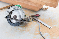 Electric circular saw Royalty Free Stock Images