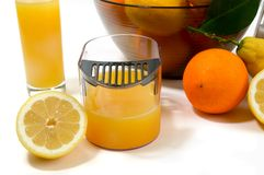 Electric citrus juicer in studio on white backgrou Royalty Free Stock Images