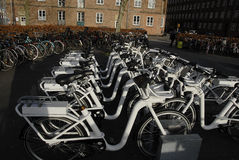 ELECTRIC CITY BIKES Royalty Free Stock Image