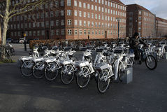 ELECTRIC CITY BIKES Royalty Free Stock Images