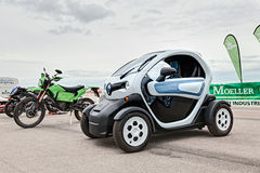 Electric city car Renault ZE Twizy Stock Photos