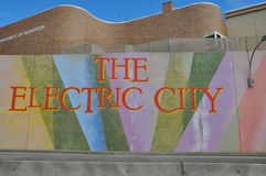 The Electric City sign, Scranton, Pennsylvania Stock Images