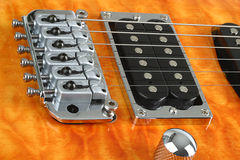 Electric class. Electric guitar close up Royalty Free Stock Image