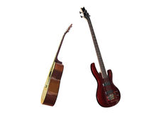 Electric and classical guitars Royalty Free Stock Photo
