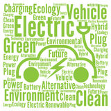 Electric and clean vehicle concept Stock Images