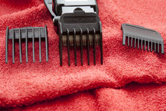 Electric clippers set Stock Photo