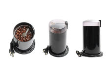 Electric coffee mill grinder Stock Photos