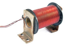 Electric coil motor Royalty Free Stock Image