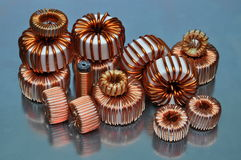 Electric coils Stock Images