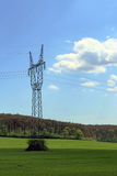 Electric column in the middle of the forest Royalty Free Stock Image