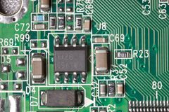 Electric components macro Royalty Free Stock Photography