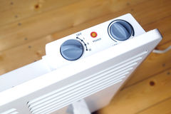 Electric con heater with control panel top view Stock Photography