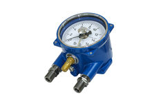 Electric contact pressure gauge. Royalty Free Stock Photos