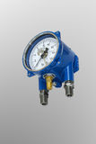 Electric contact pressure gauge. Stock Image