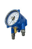 Electric contact pressure gauge. Stock Photography