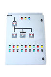 Electric control box isolate. On white background Stock Image