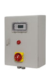 Electric control box and volt gauge. Panel stock photos