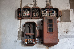 Electric control cabinet Royalty Free Stock Image
