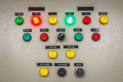 Electric Control Panel Stock Photo